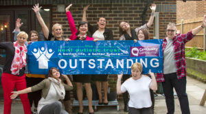 Outstanding team at one of the registered homes joined by CEO, Head of Care and Positive Behavioural Support Manager